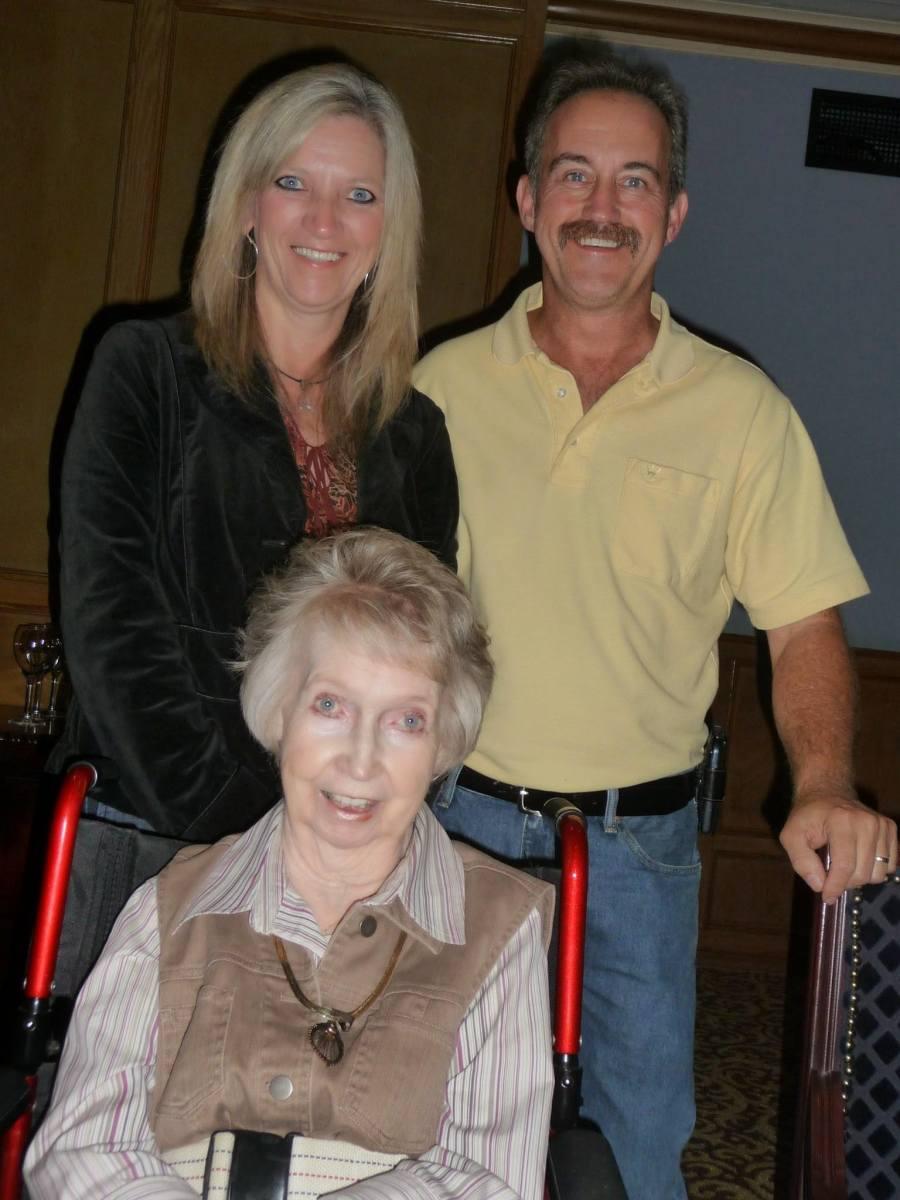Me, my husband and my sweet Moma!