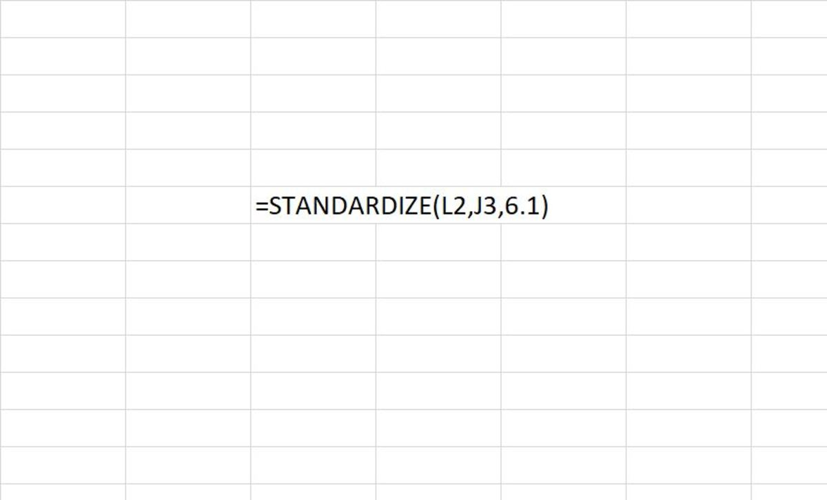 How to Use the STANDARDIZE Function in Excel