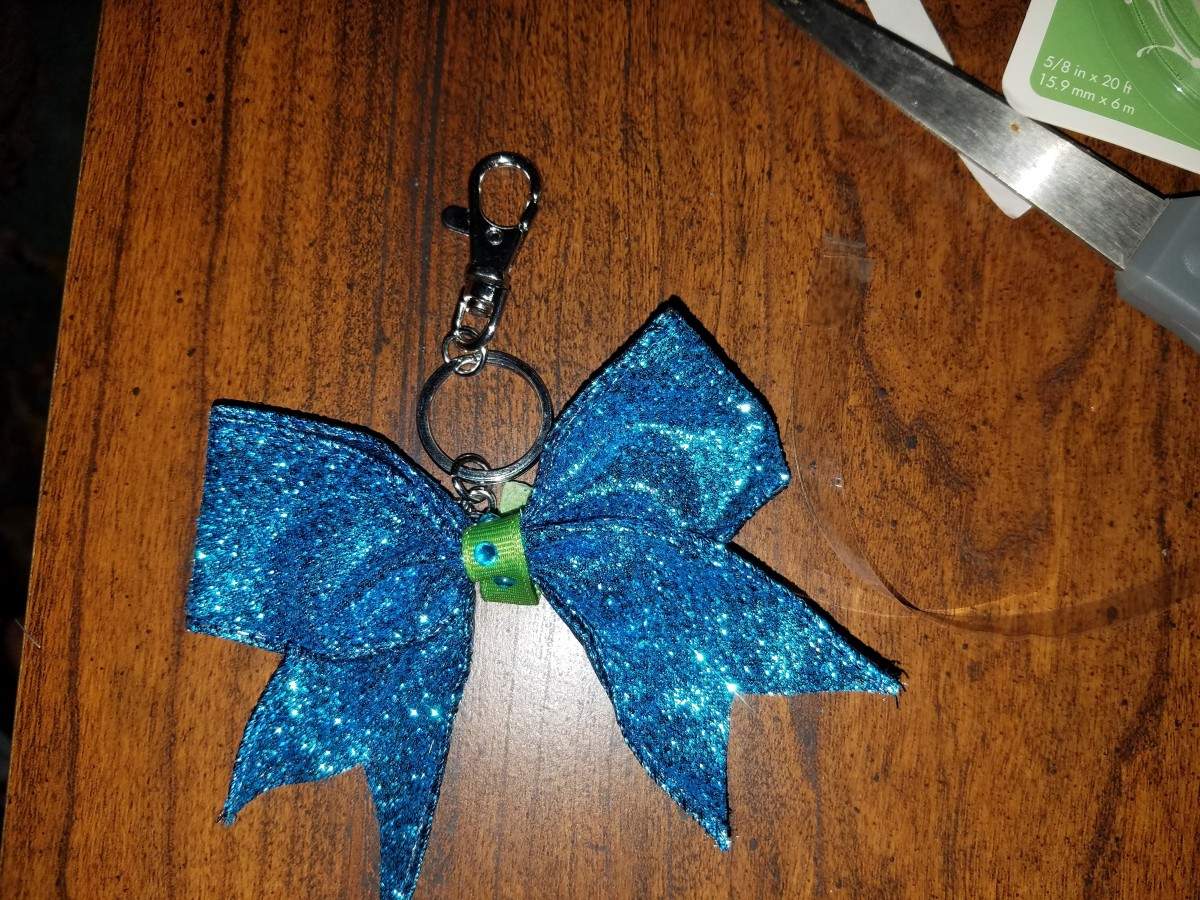 How to Make a Bow Keychain (Cheer Gift)