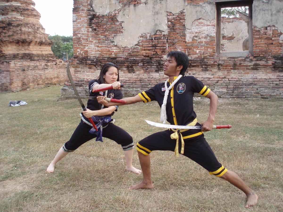 Krabi Krabong sword training.