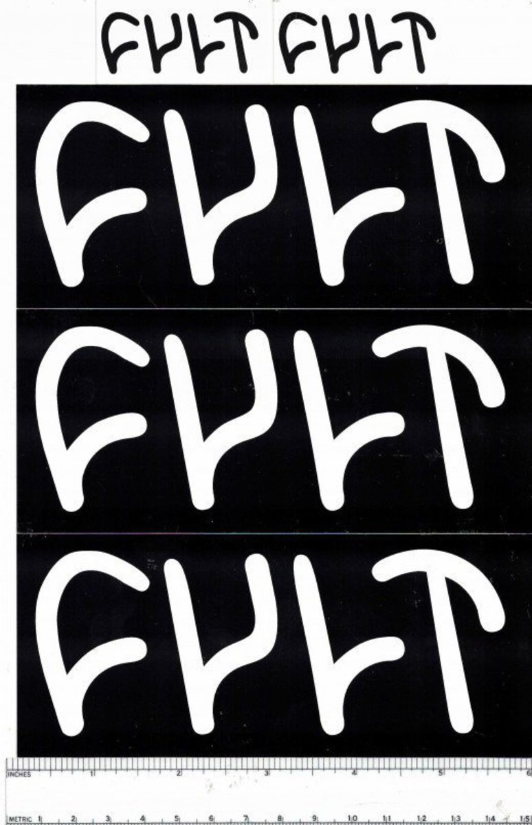 Free stickers from cult crew bmx