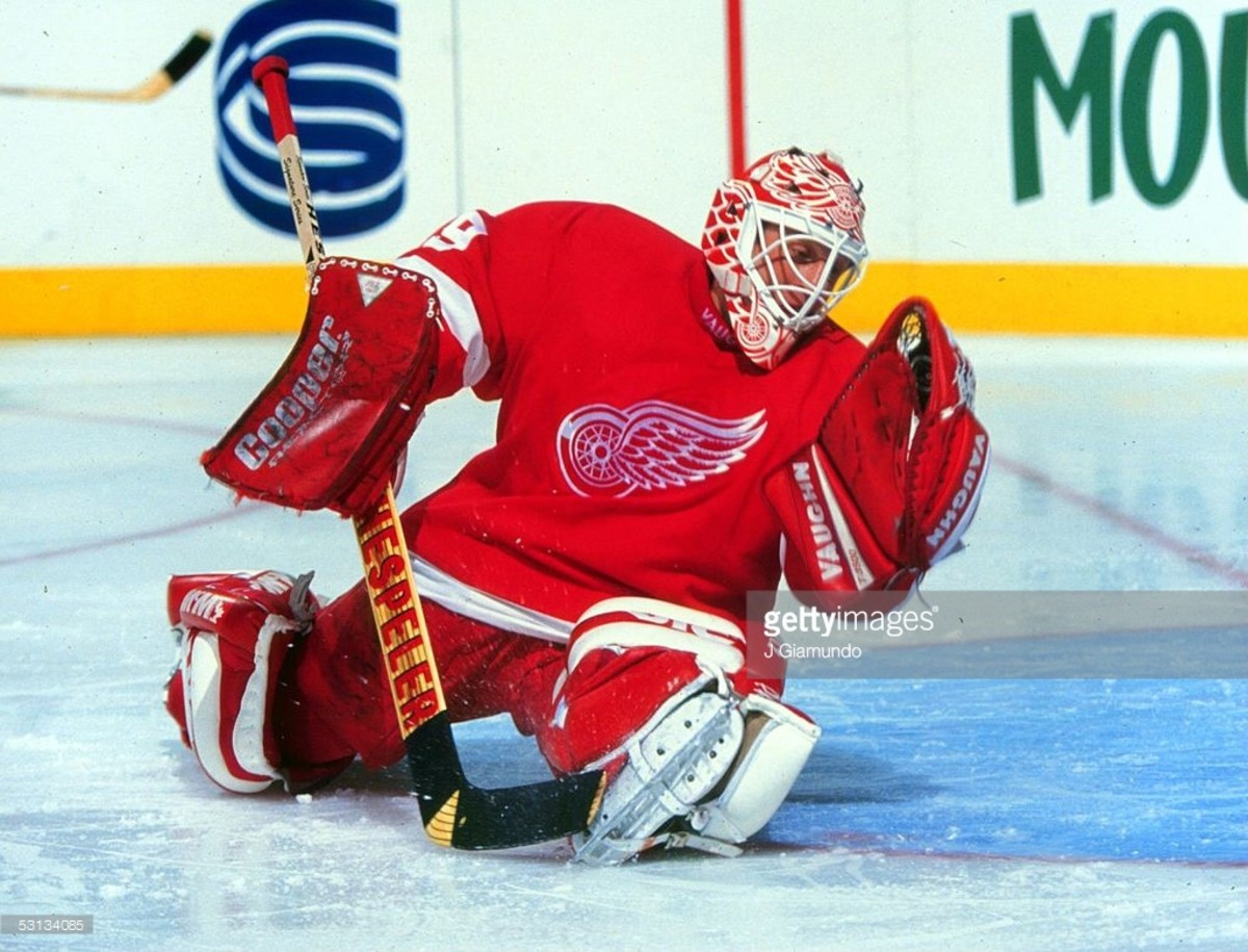 Vernon with the Red Wings