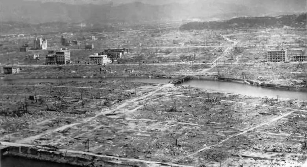 Hiroshima, in the aftermath of the bombing