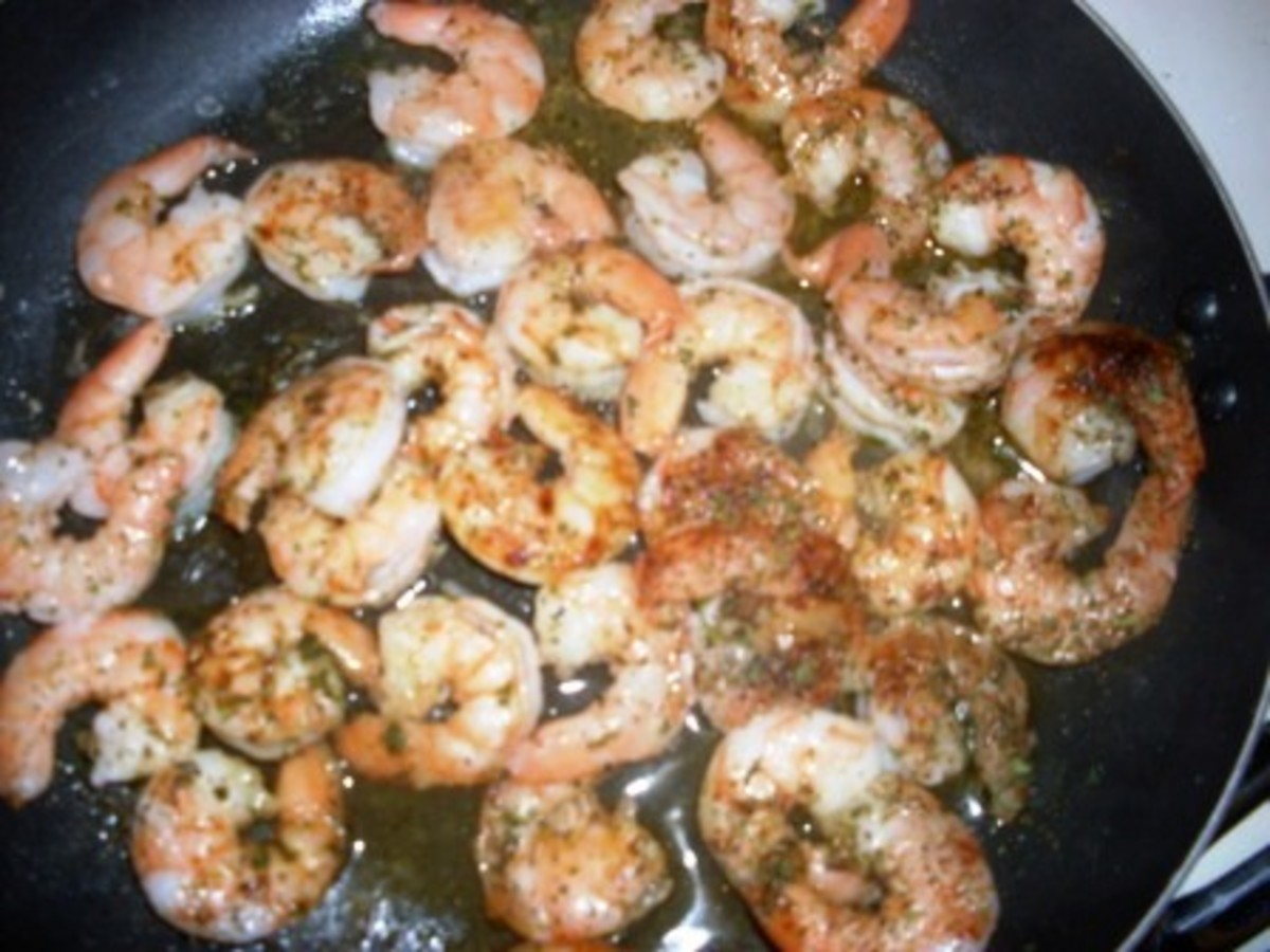 fully cooked and seasoned shrimp