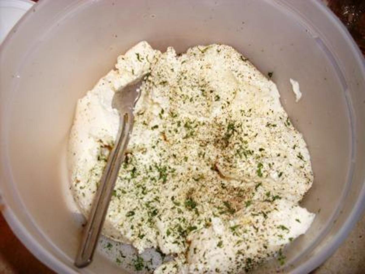 mix ricotta with parsley