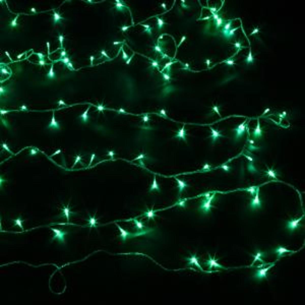 Green Holiday String Lights : Green Christmas Lights