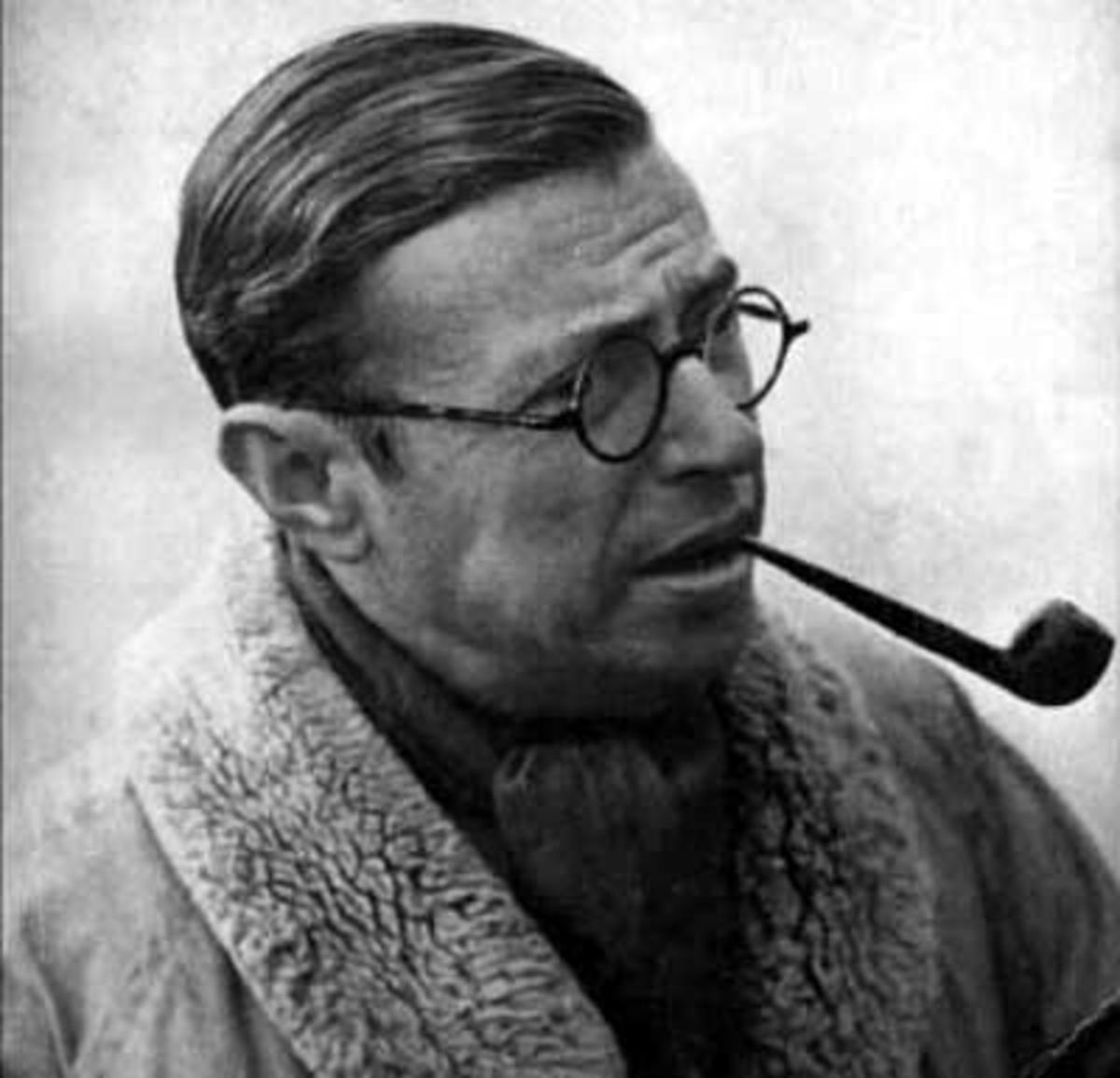 Jean-Paul Sartre wrote plays and was a social philosopher, who was well known for his existentialistic ideas.