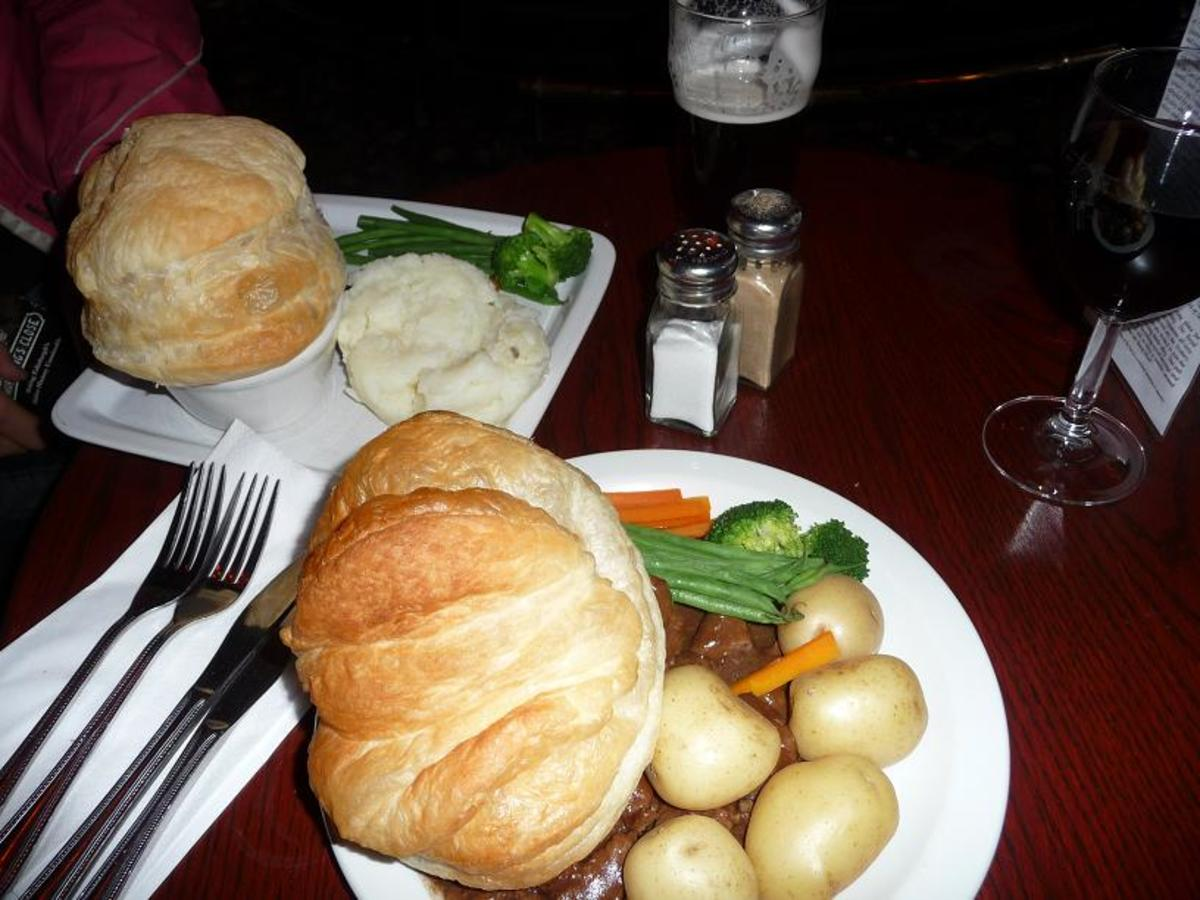 Duddingston Fidget Pie and Guest Steak & Ale Pie