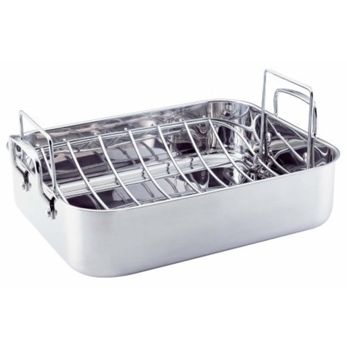 Beautiful Stainless Steel 16-1/2-Inch Rectangular Roasting  pan with Rack