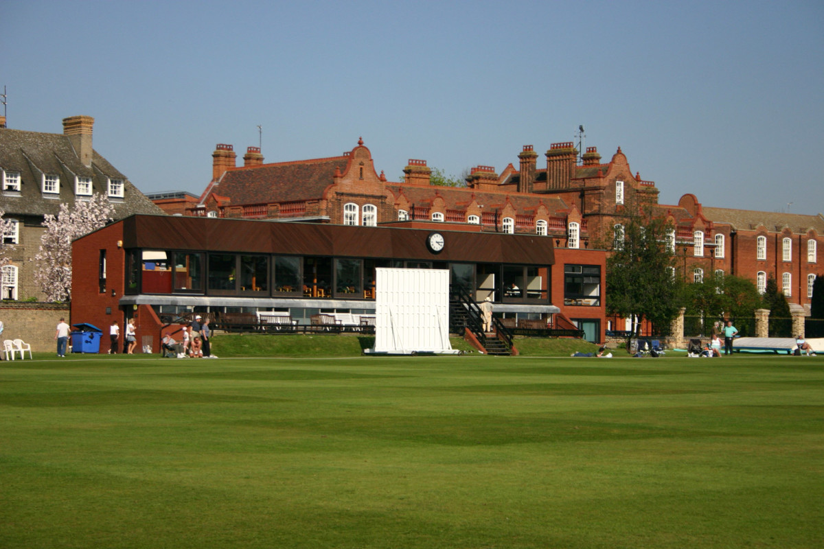 The pavilion at Fenner's cricket ground, Cambridge