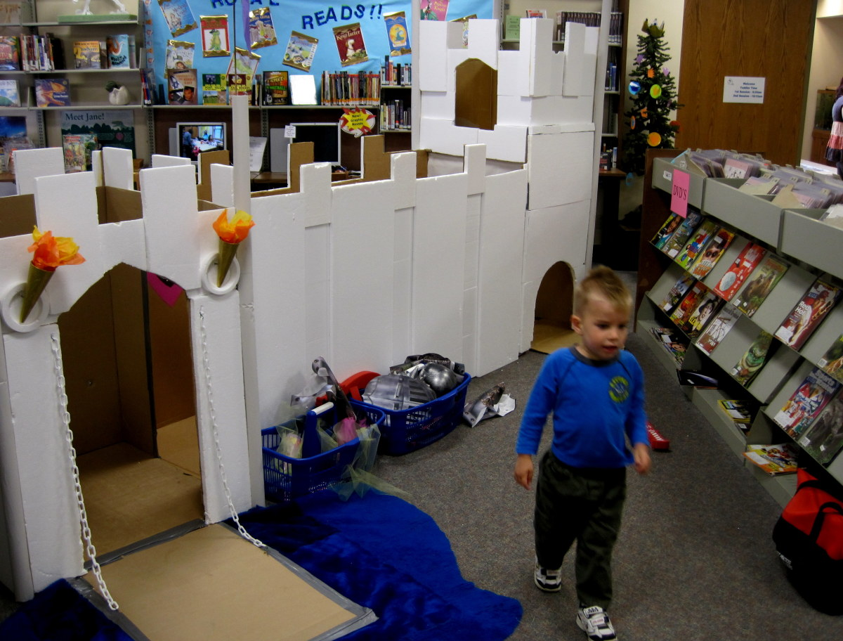 This AWESOME castle was built for the children the library staff.