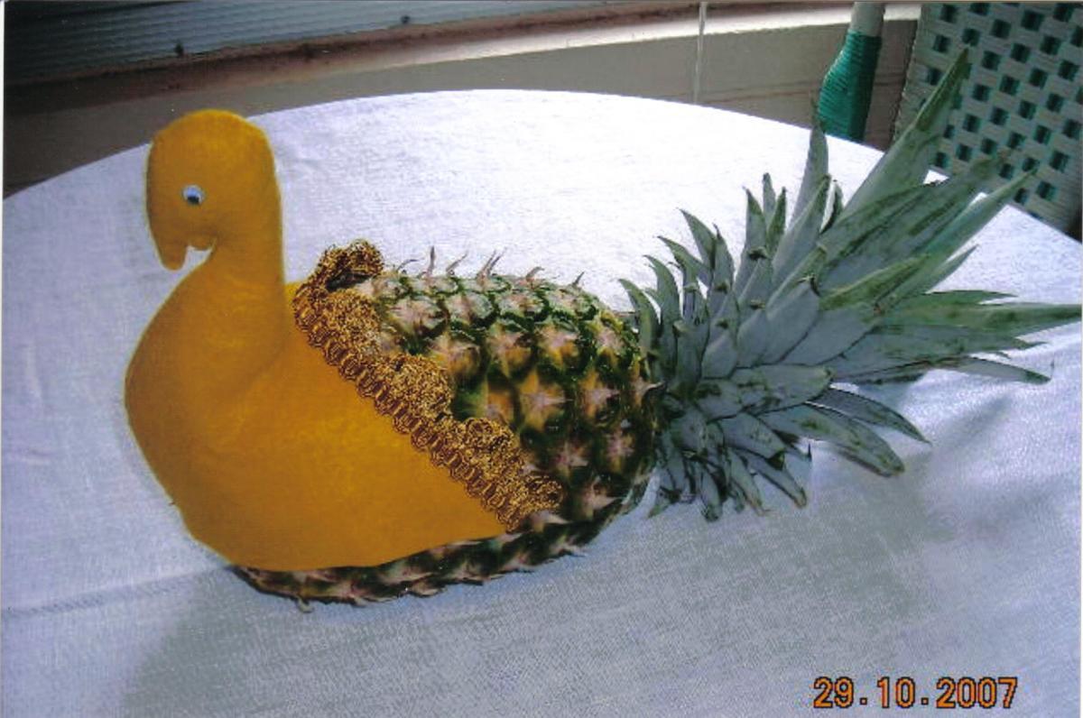 Felt Turkey and Pineapple