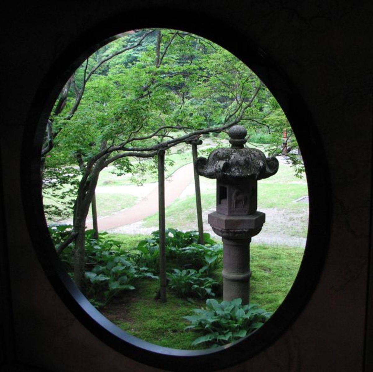 Through a window of Tamozawa villa.