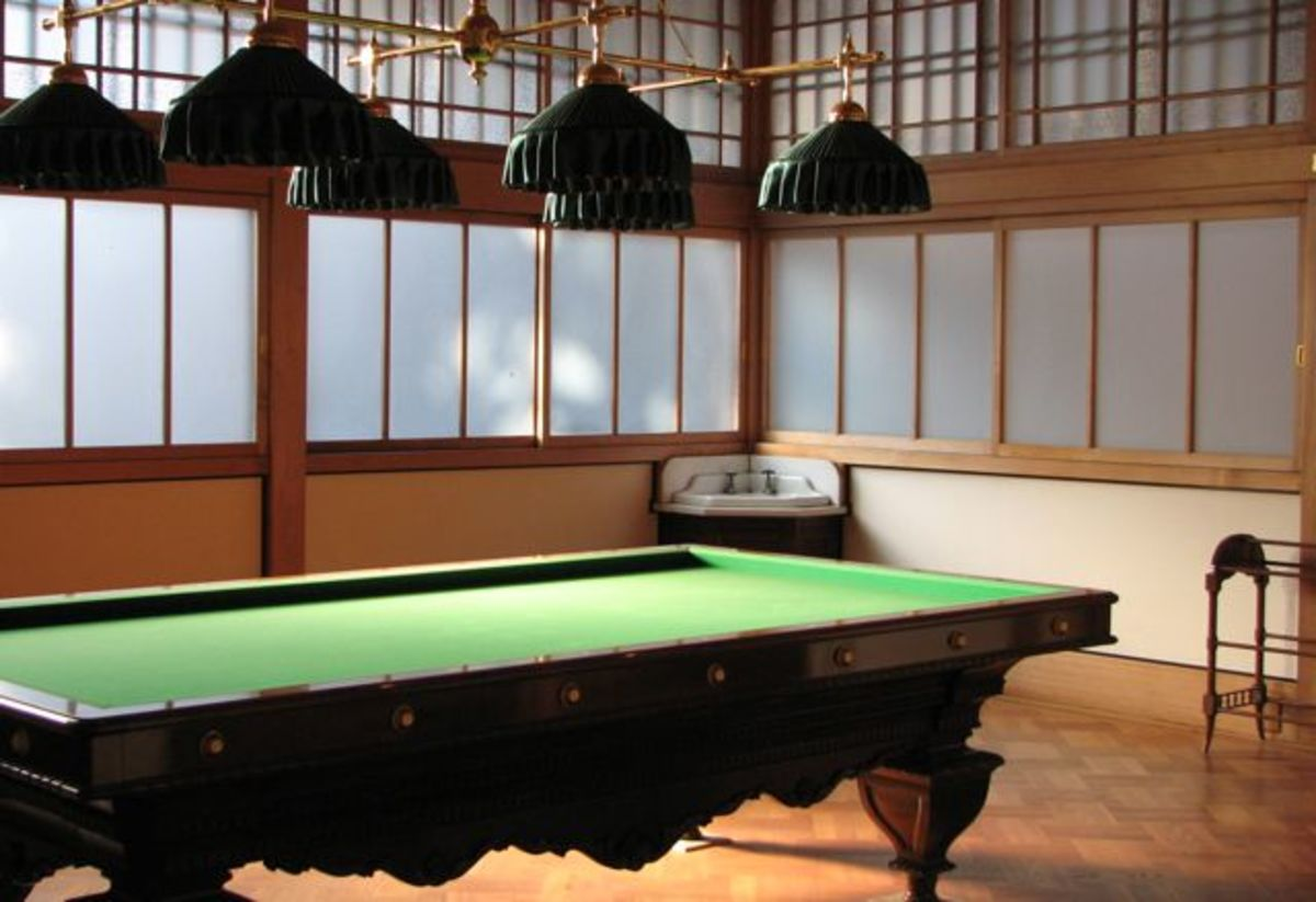 Billiard room, Tamozawa villa in winter.