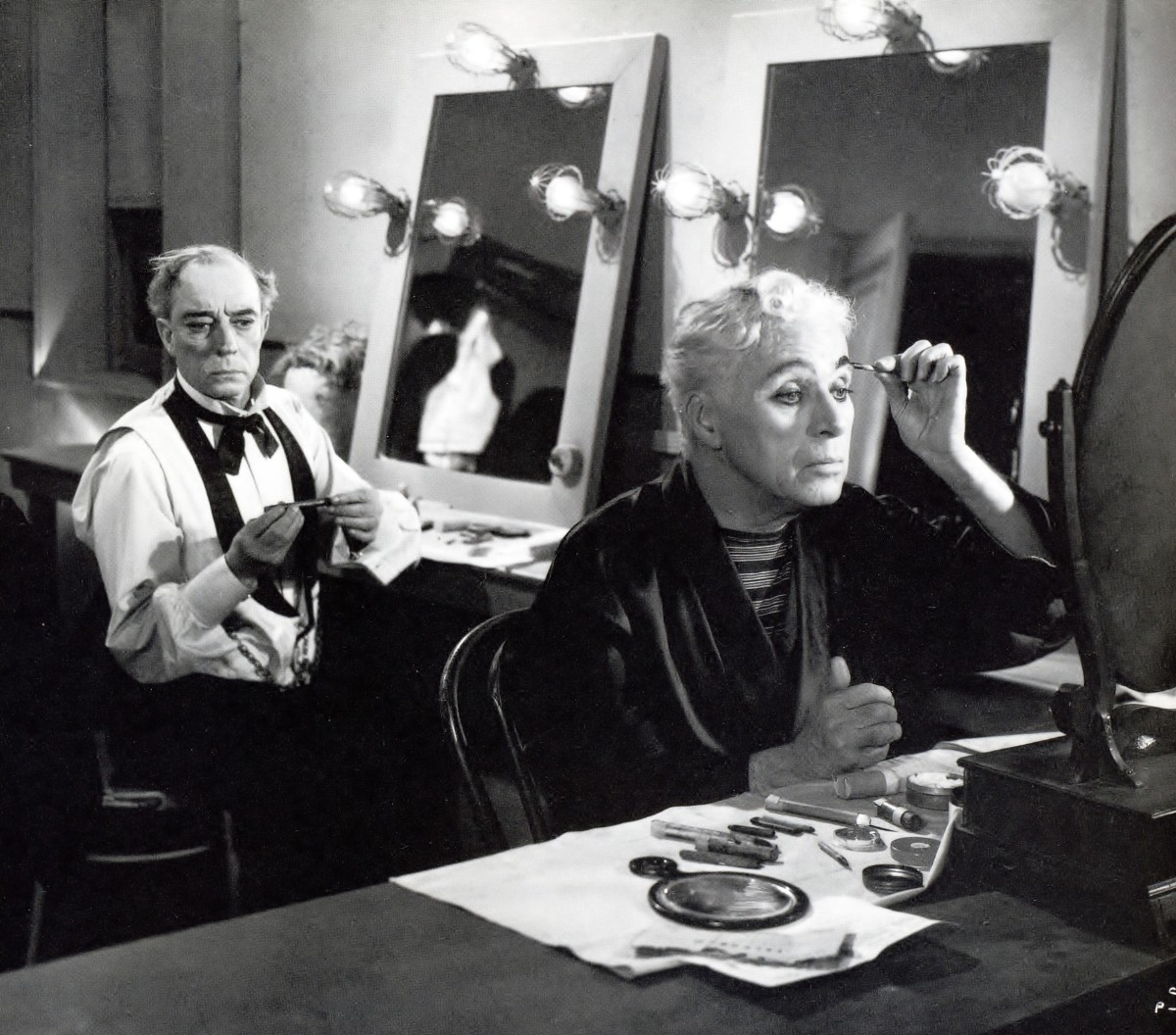 Buster with Chaplin in Limelight (1952)