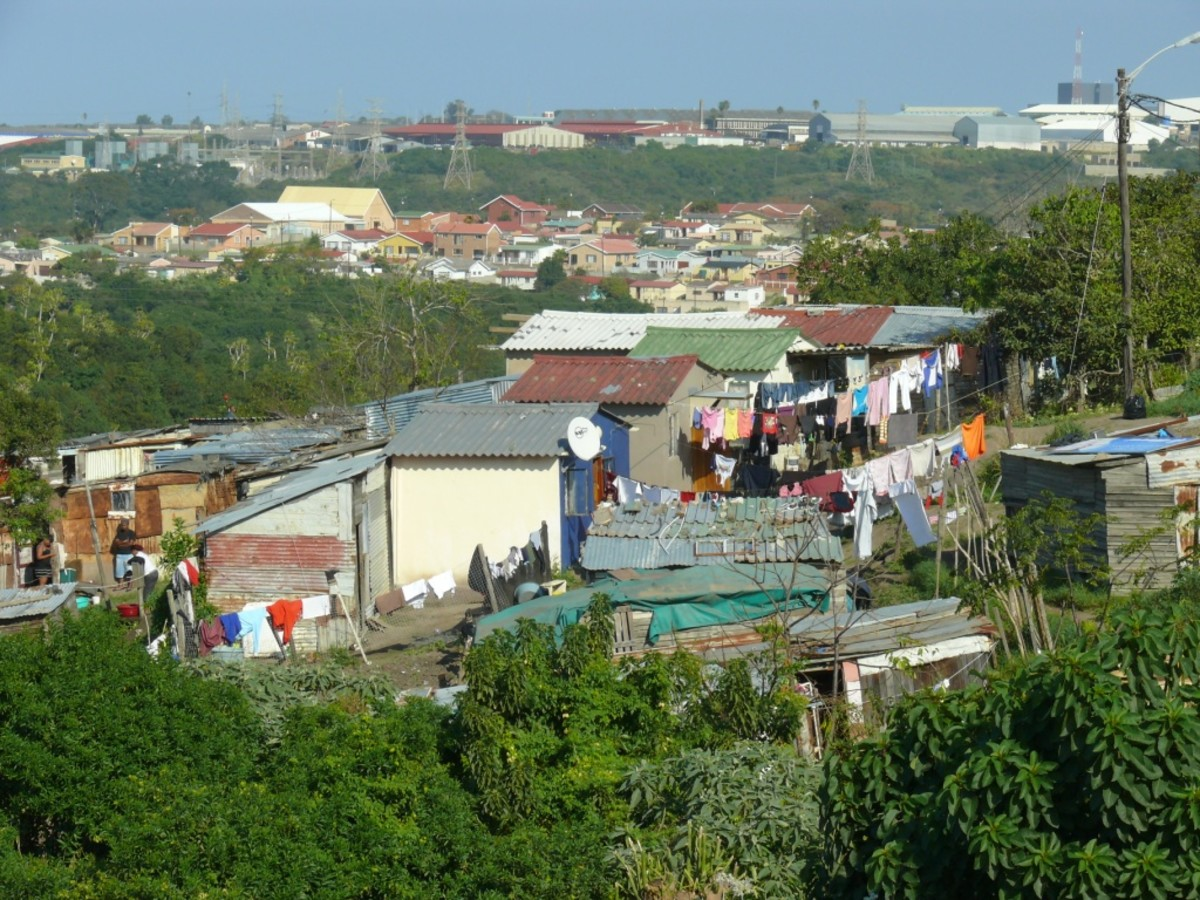 Shacks in informal settlement, Parkridge