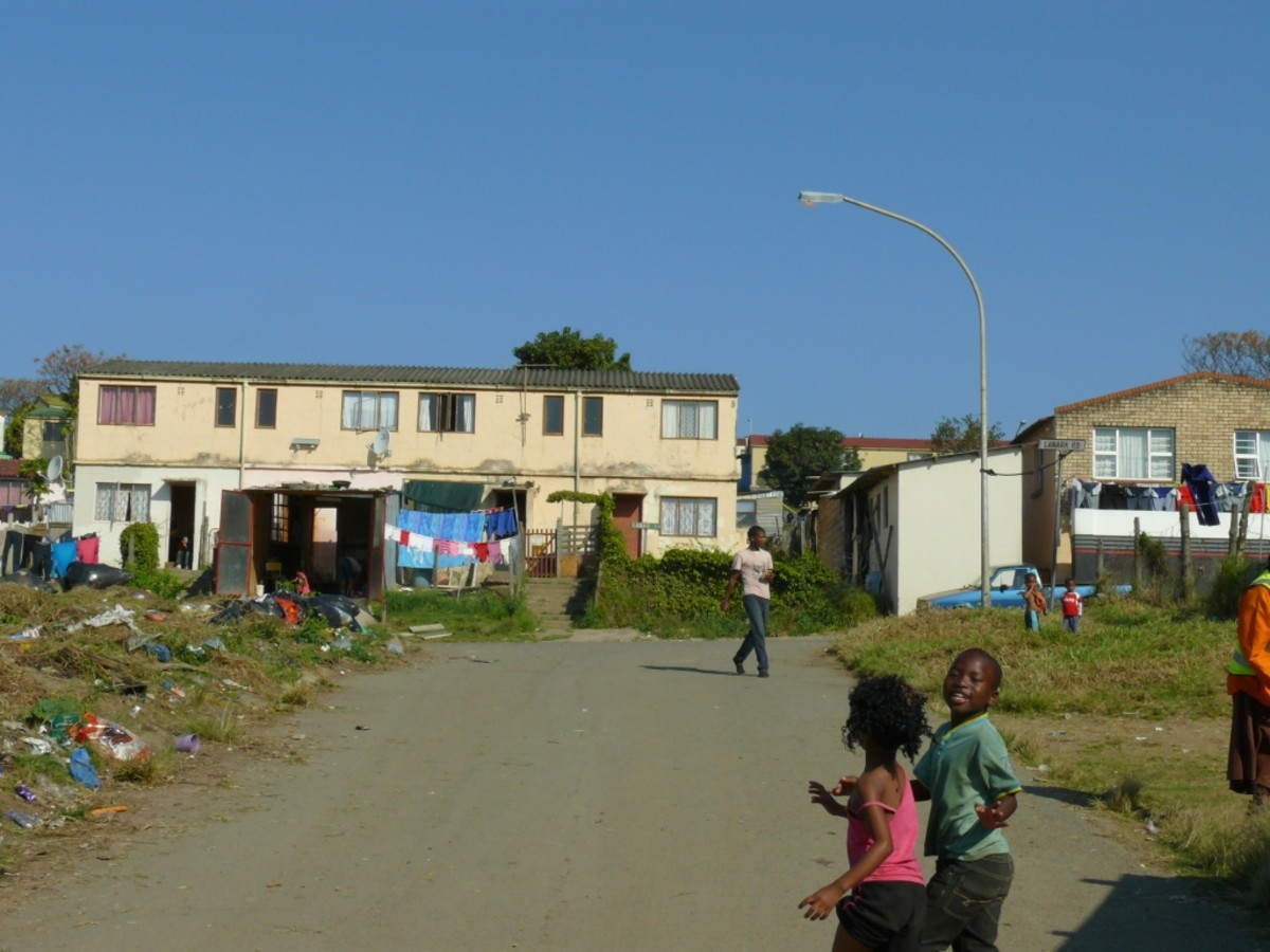 Sub-economic housing in Peifferville- a so called Colored area.