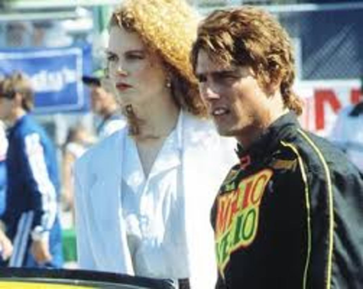 Tom Cruise and Nicole Kidman in Days of Thunder 1990
