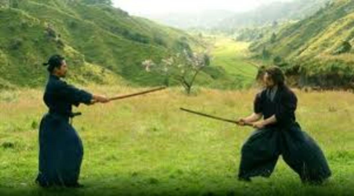 Tom Cruise as Nathan Algren in The Last Samurai 2003