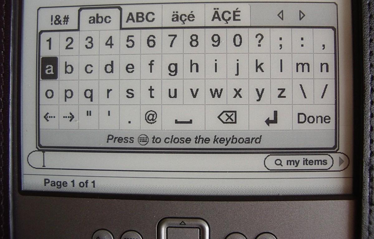 A Kindle keyboard