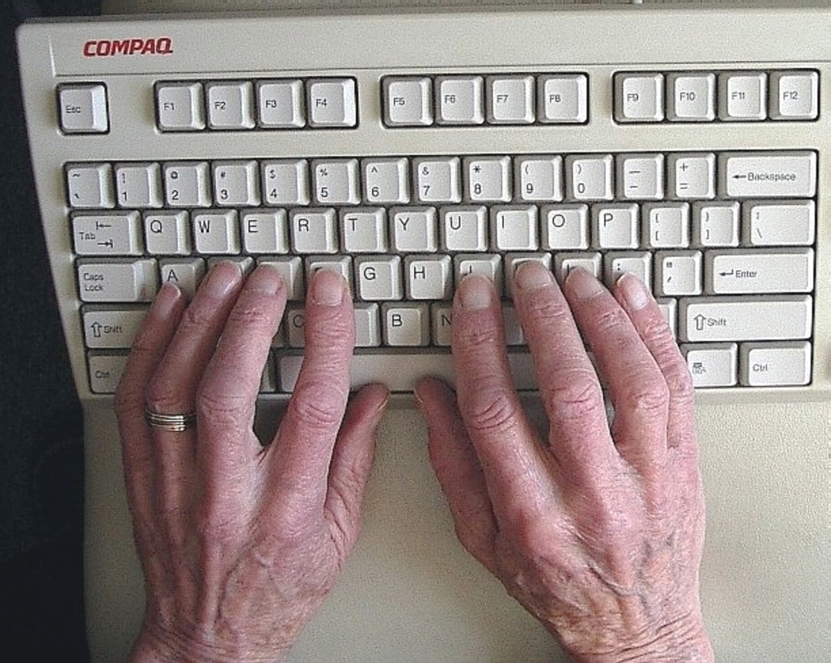 The fingers on the Home Keys