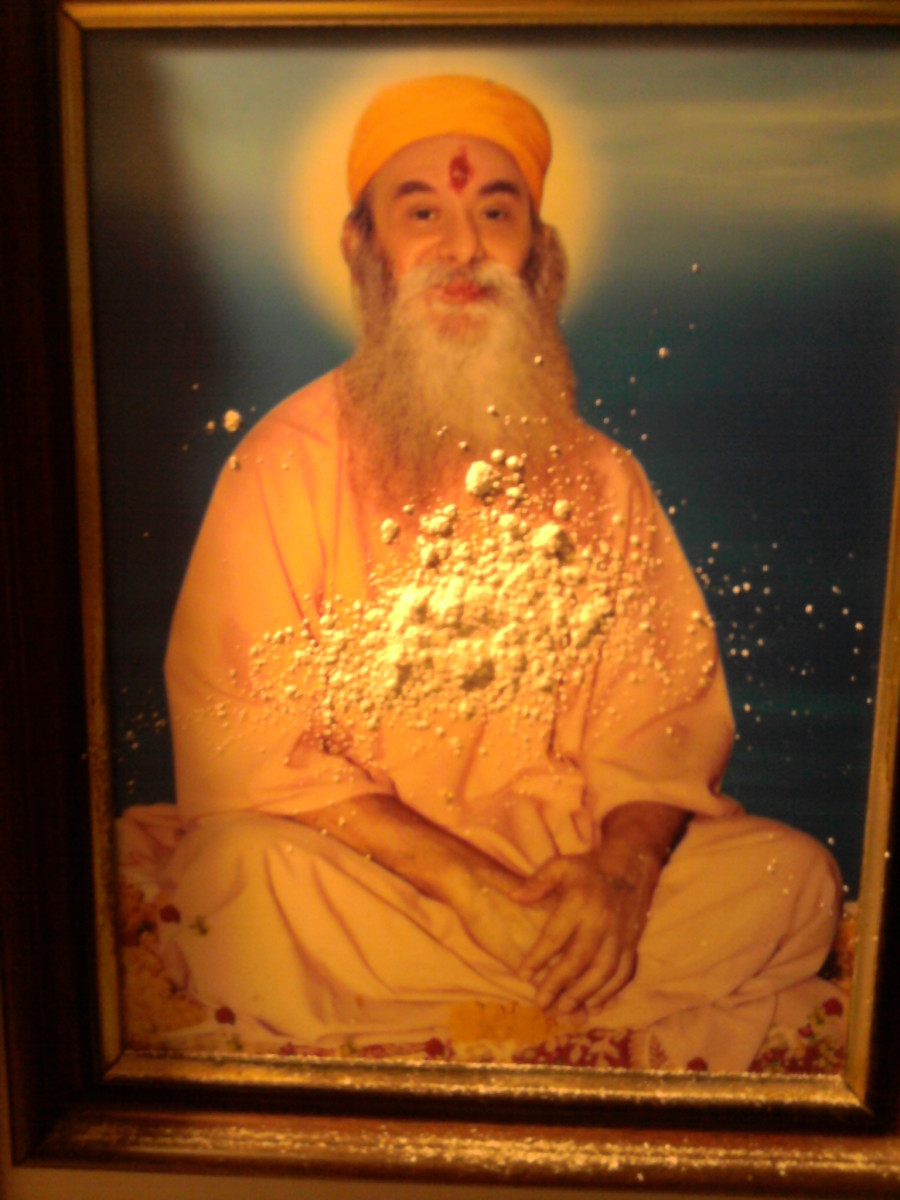 The picture of Shiv Yogi Maharaj at Sarvajyoti's home in Puttaparthi