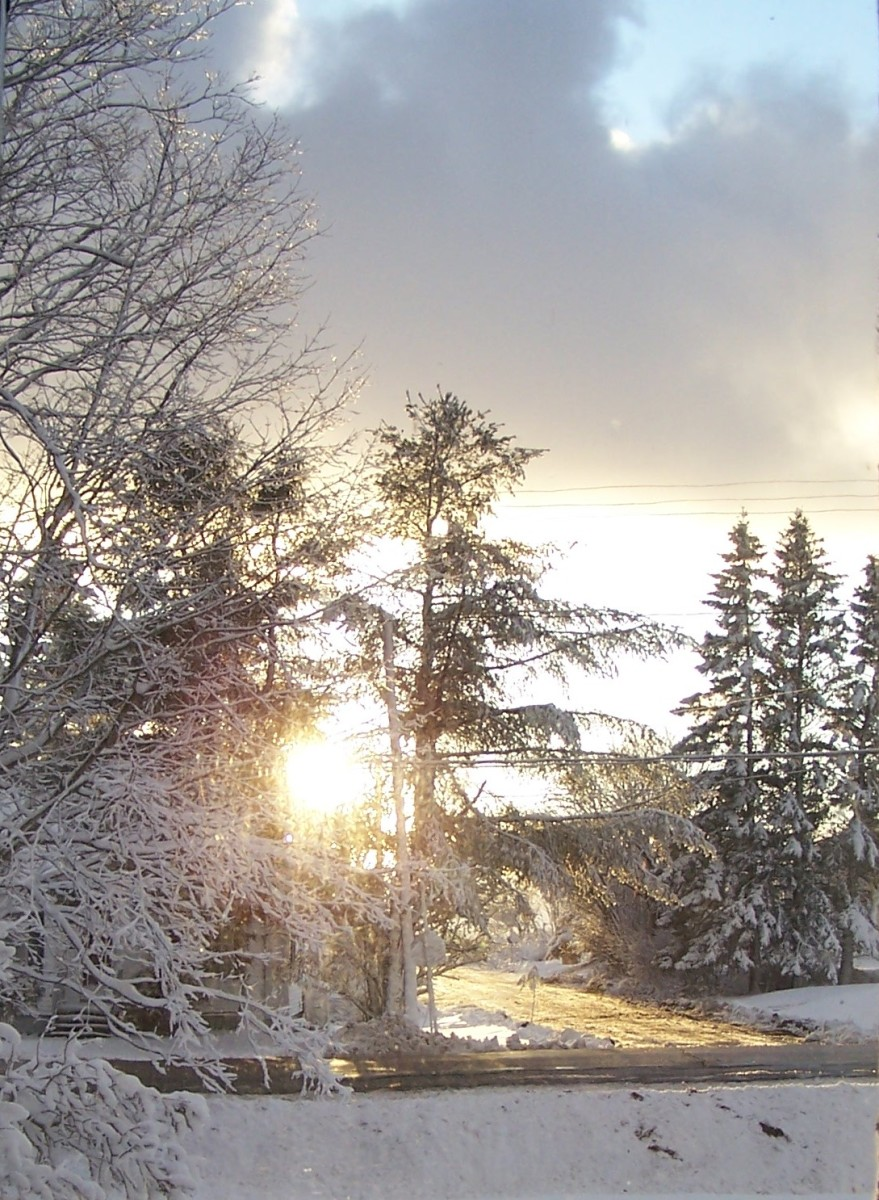 Sunset on a winter's day