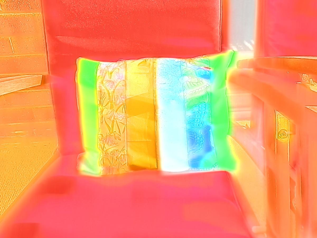 Cushion using watercolor setting