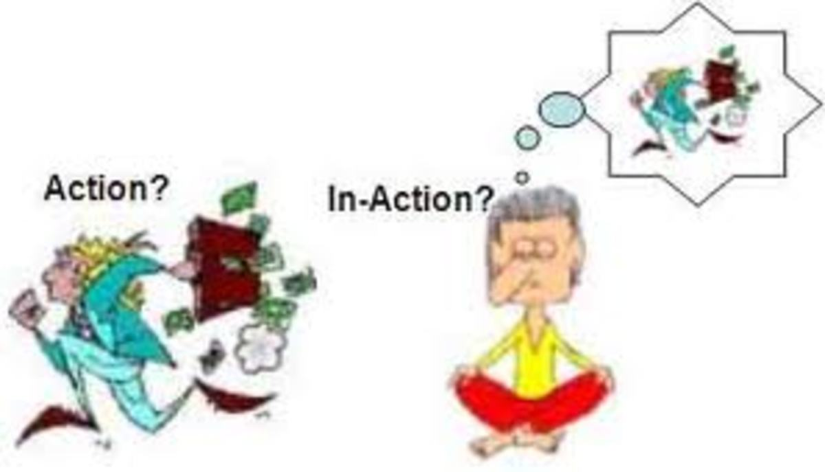 Thought is also an action in itself! There is no escape from action.