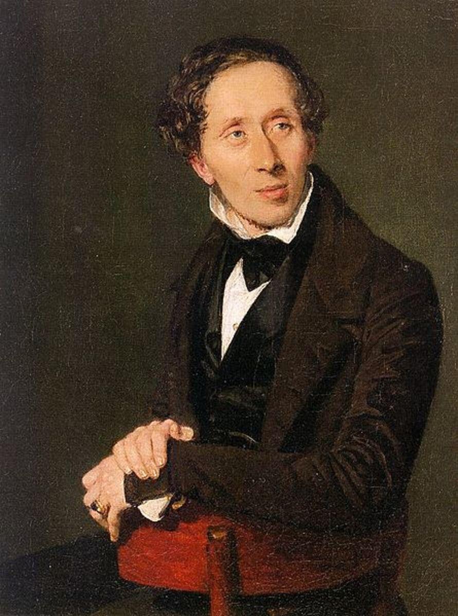 Portrait of Hans Christian Anderson.