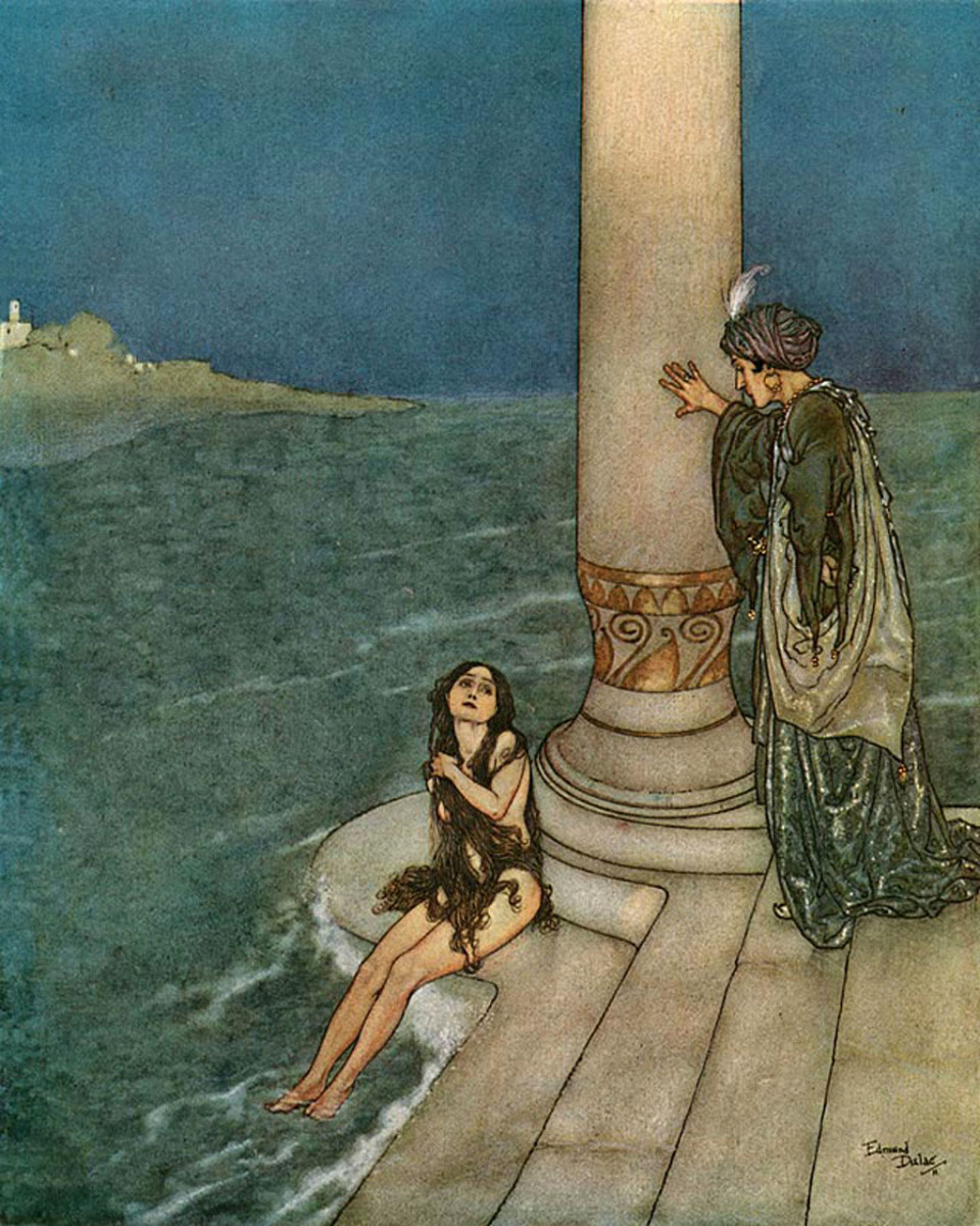 "Illustration from ""The Little Mermaid,"" written by Andersen."