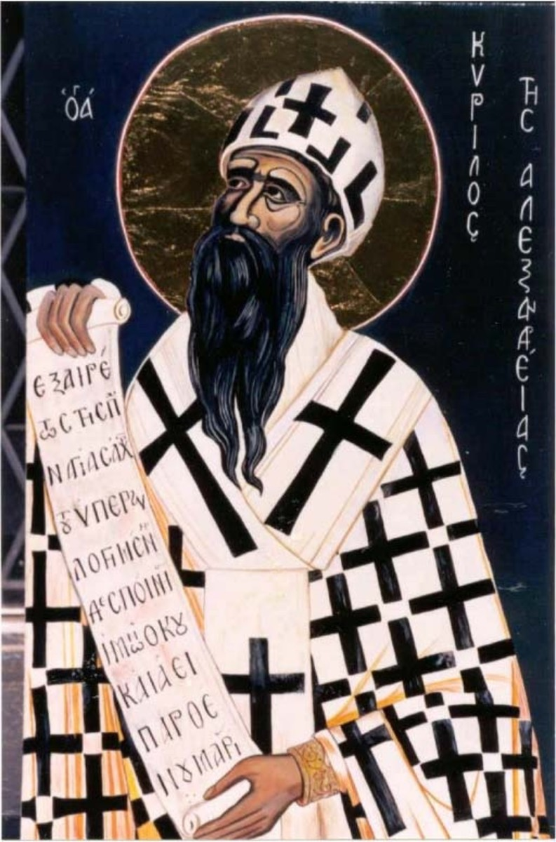 Saint Cyril, one of the saints credited with creating the modern day Cyrillic alphabet.