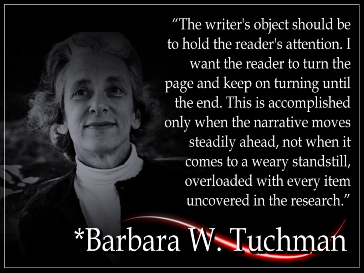 "Barbara W. Tuchman Barbara Wertheim Tuchman (1912 - 1989) was an American historiographer and book author. She is the author of ""The Guns of August,"" which won her the Pulitzer Prize for General Non-Fiction in 1963."