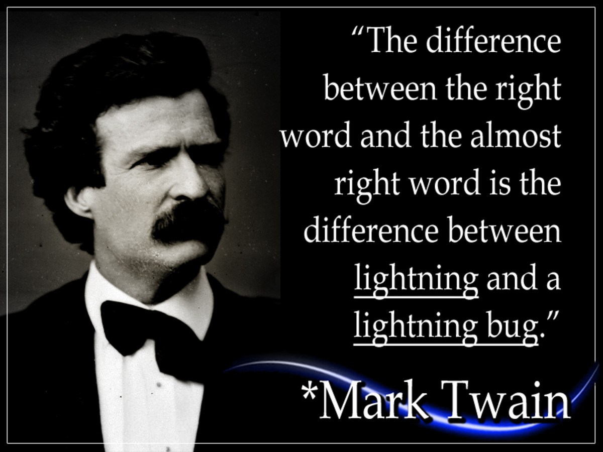 "Samuel Langhorne Clemens, better known as Mark Twain, was an American writer and satirist. He is most remembered for his great American novels, ""The Adventures of Tom Sawyer (1876),"" and its follow up, ""Adventures of Huckleberry Finn (1885)."""