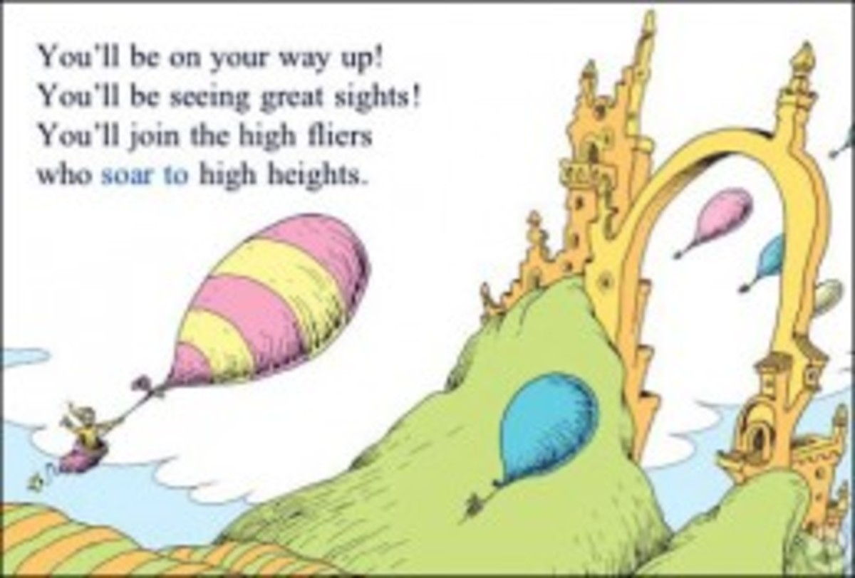 "A page from ""Oh The Places You'll Go,"" by Dr. Seuss"
