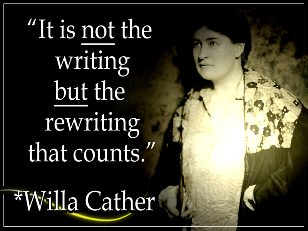 Willa Sibert Cather (Dec. 1873 – April 1947) was a Pulitzer Prize-winning American author who attained popularity for her best-sellers of backwoods life on the Great Plains.