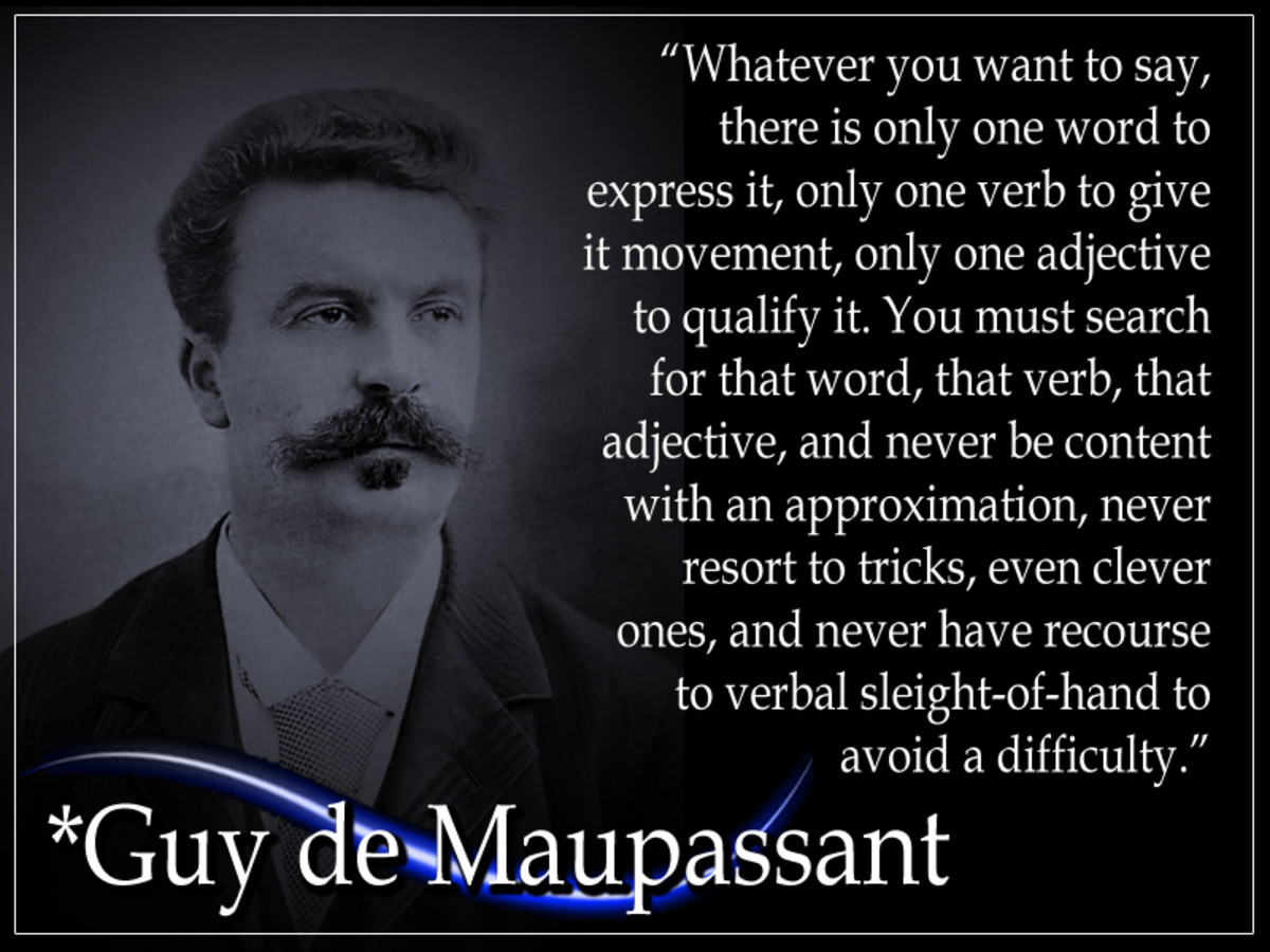 Guy de Maupassant was a prominent 19th-century French writer. He wrote 300 short stories, 6 novels, 3 travel books, and one volume of poetry. His stories are distinguished by their economy of style and efficient, simple narratives.