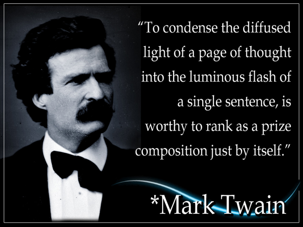 Samuel Langhorne Clemens, better known as Mark Twain