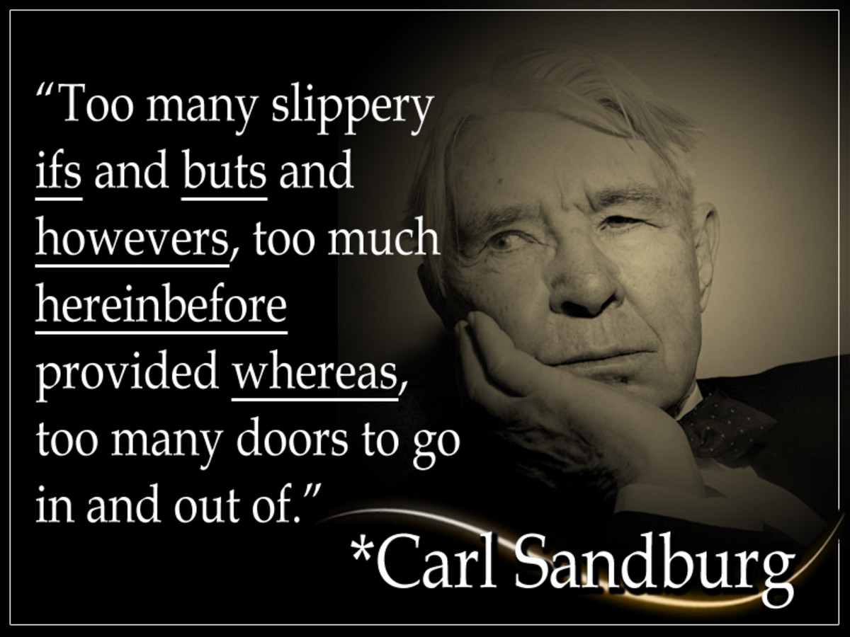 Carl Sandburg was an American writer and editor, widely recognized for his poetry. He was the beneficiary of 3 Pulitzer Prizes: two for his poetry and one for his biography of Abraham Lincoln.