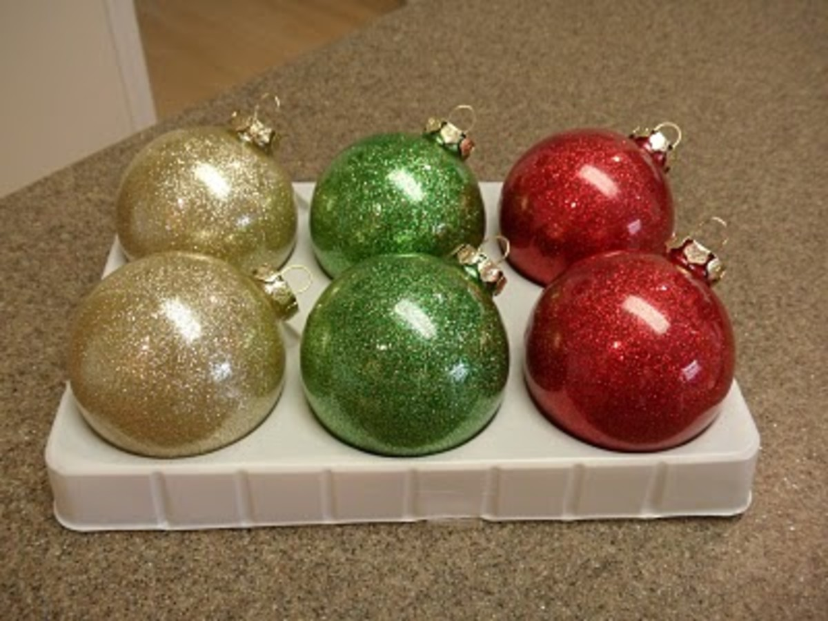 Glitter Bauble Decorations