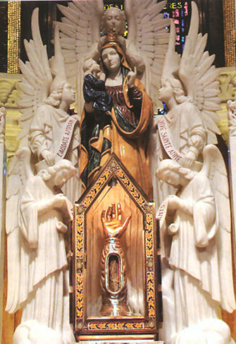 Relic of Saint Anne at Saint Anne de Beaupre in Quebec