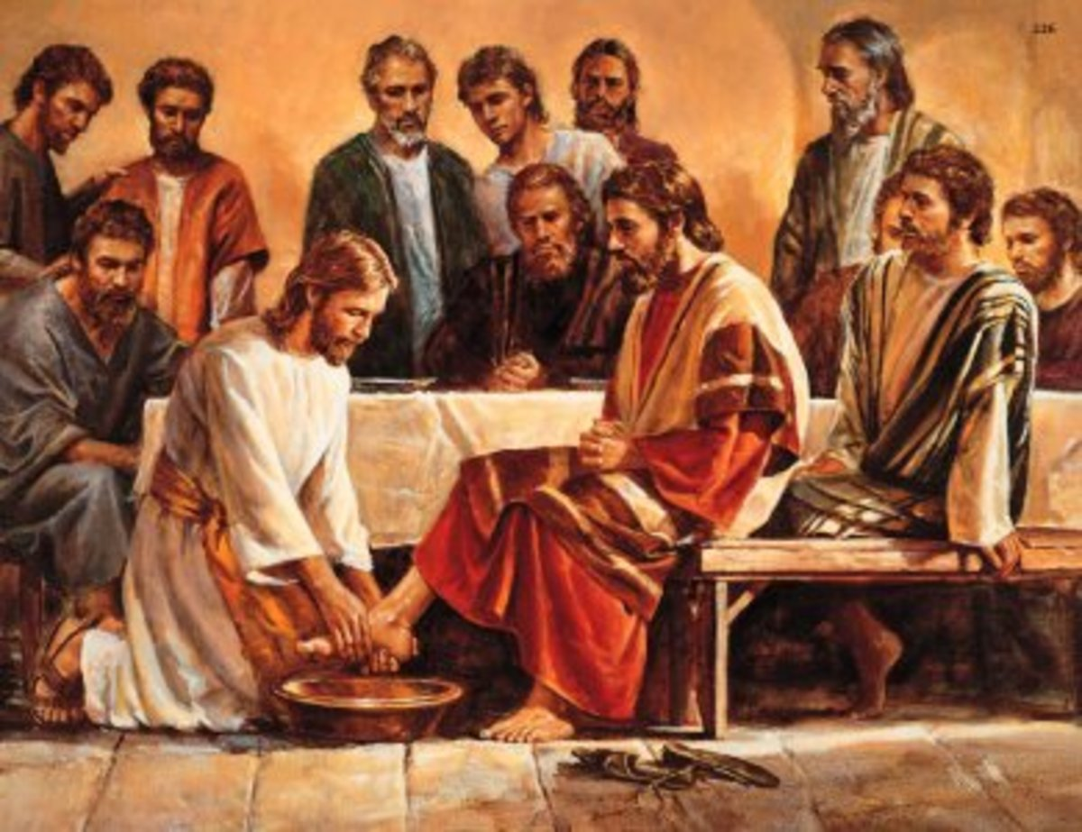JESUS WASHES HIS APOSTLES' FEET AT THE LAST SUPPER