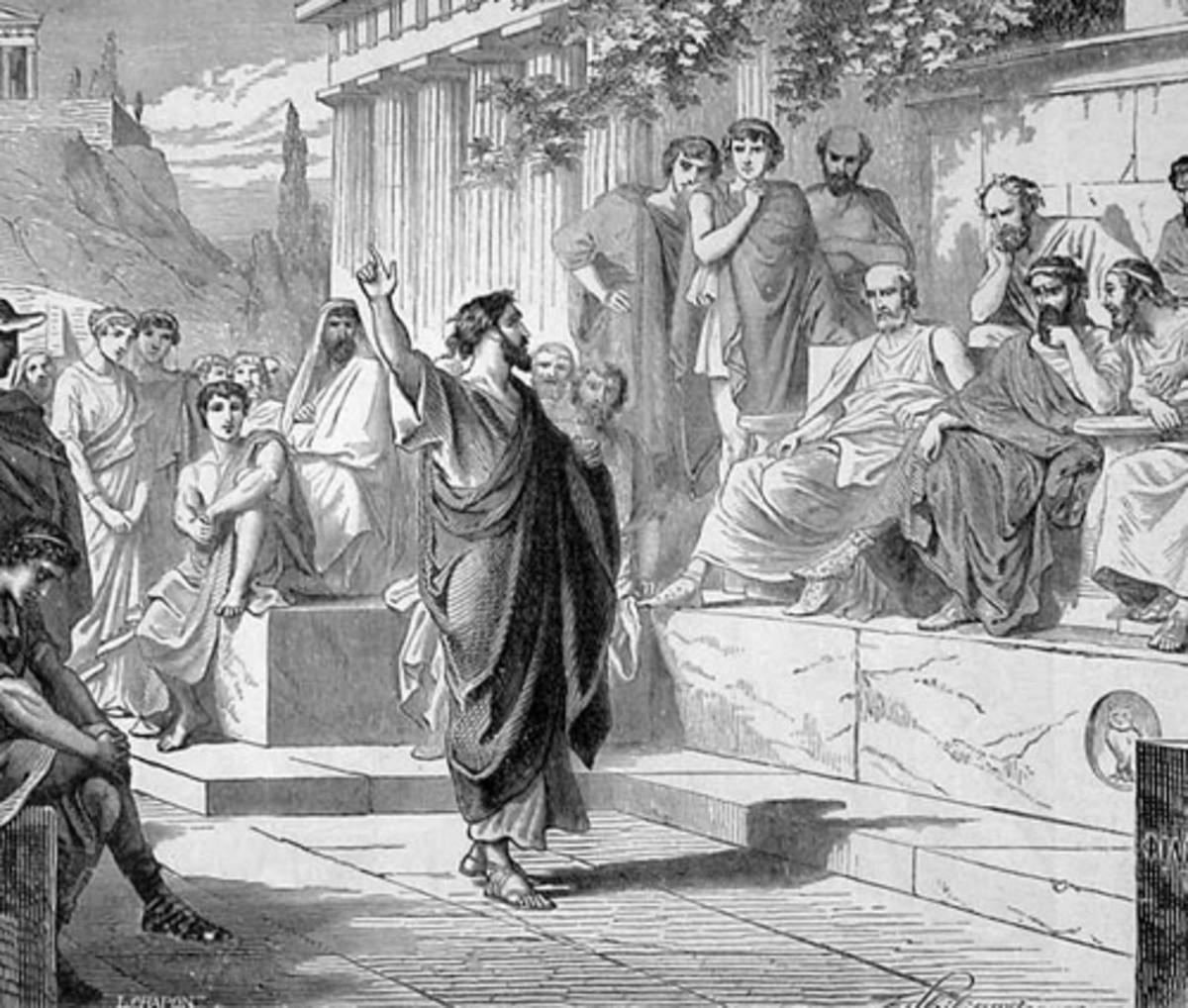 PAUL ADDRESSES THE AREOPAGUS ON MARS HILL