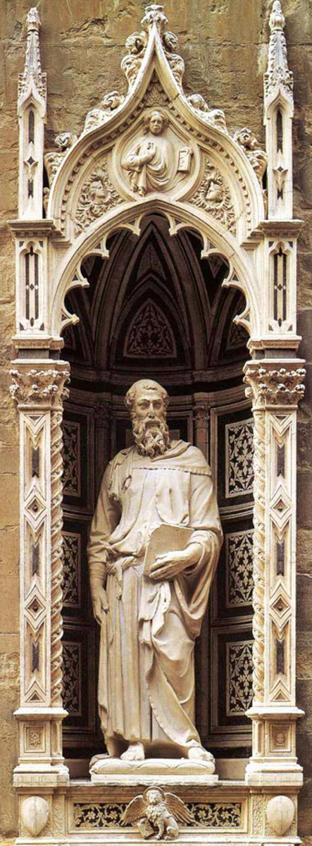 ST MARK AS SCULPTURED BY DONATELLO IN 1413