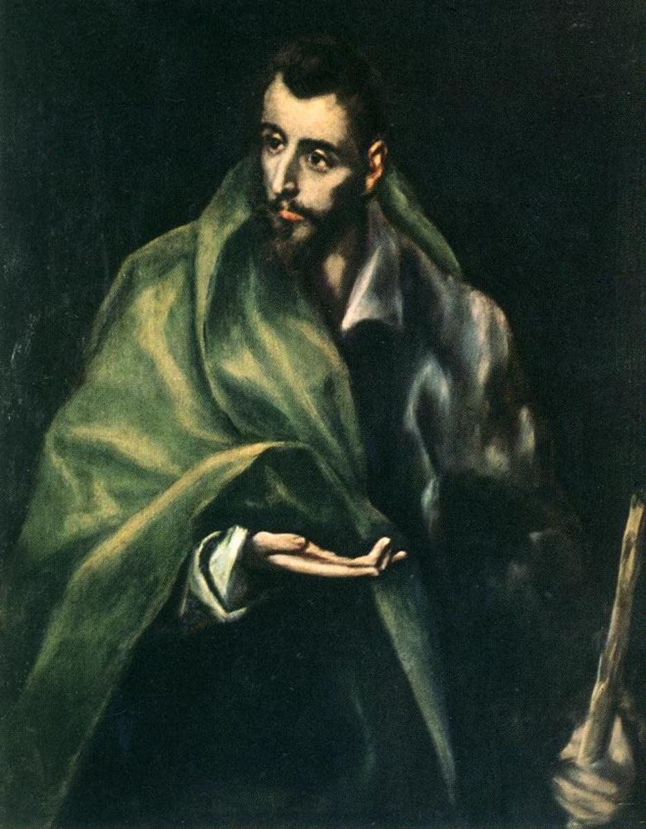 APOSTLE ST JAMES AS PAINTED BY EL GRECO IN 1614
