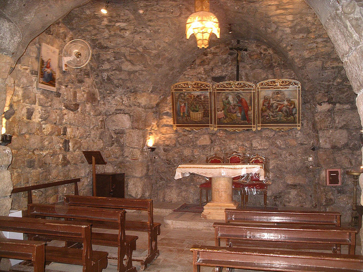 CHAPEL TODAY IN DAMASCUS, SYRIA, WHERE PAUL MET BARNABAS IN ANANIAS' HOME