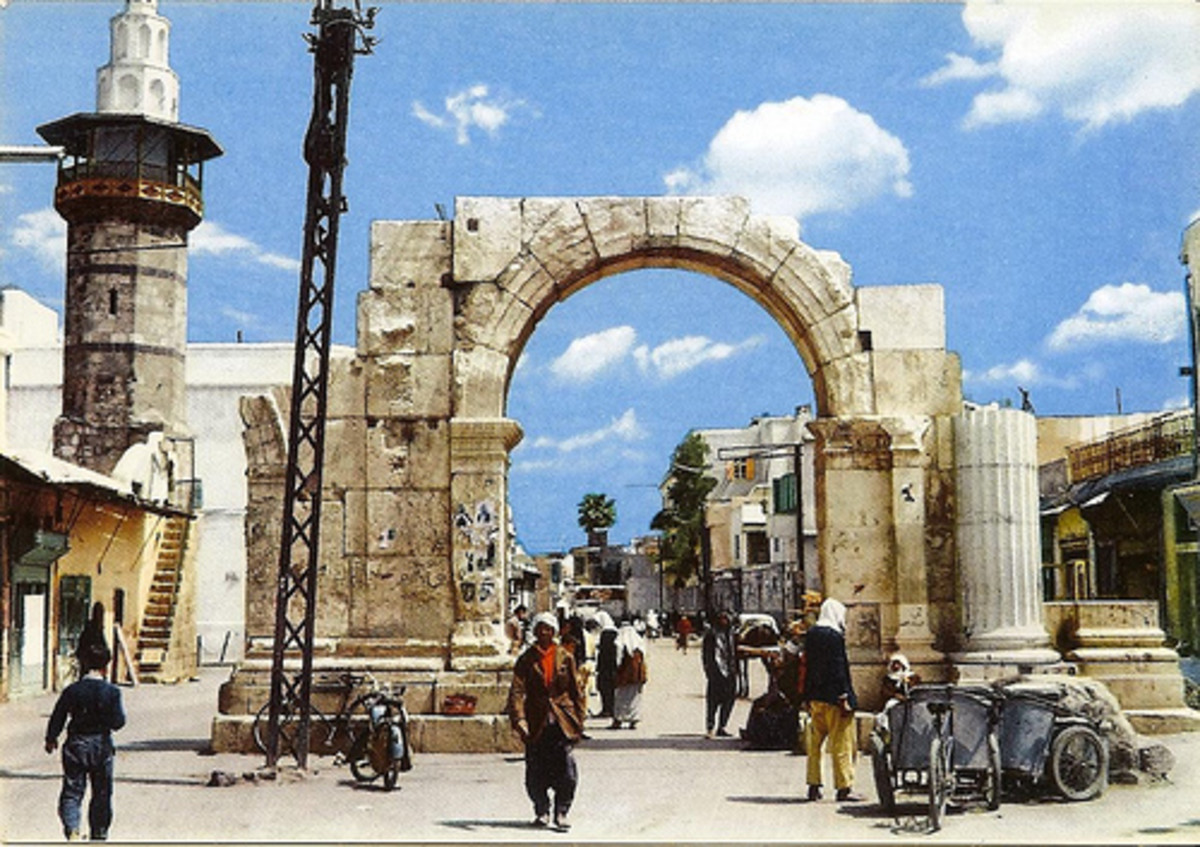 1963 PHOTOGRAPH OF STRAIGHT STREET IN DAMASCUS WHERE PAUL LIVED FOR 3 YEARS
