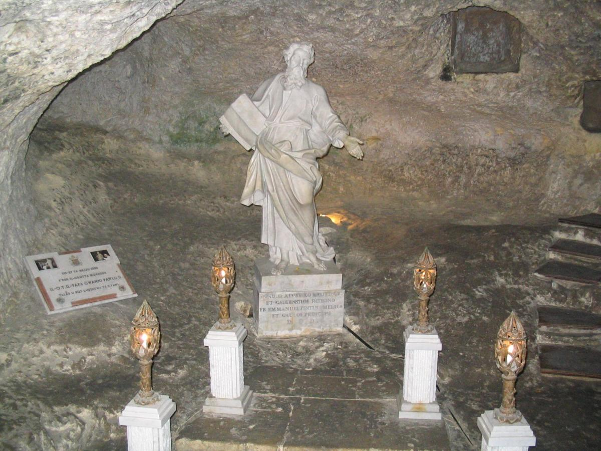 ST PAUL'S GROTTO ON MALTA WHERE HE LIVED WITH LUKE FOR 3 MONTHS AFTER SHIPWRECK