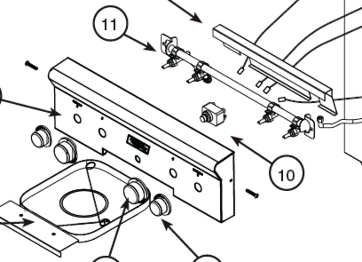To adjust the air shutter, pull the control panel off the front of the barbeque.