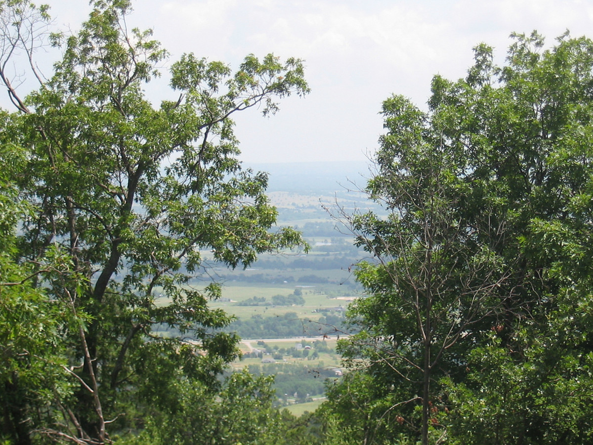 A view of modern-day Poteau Valley from Cavanal Hill